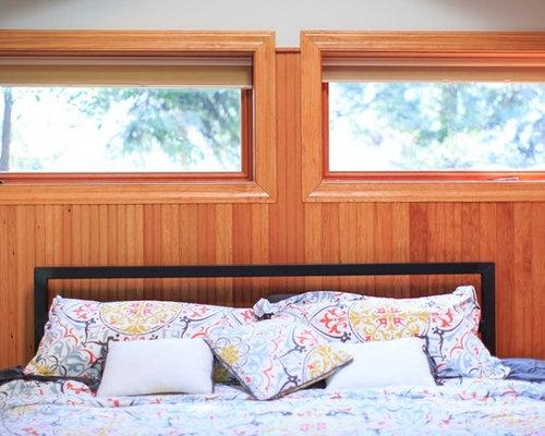 Camera da letto american style con pareti marroni foto for Arredamento american style