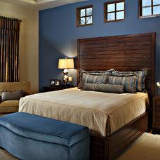 Contemporary Bedroom by Linda Seeger Interior Design