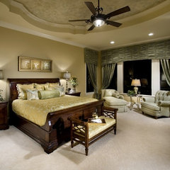 mediterranean bedroom by Rey Hernandez Interior Design