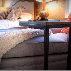 Eclectic Bedroom by Leslie Stephens Design