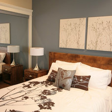 Contemporary Bedroom by Sticks and Stones Design Group inc.