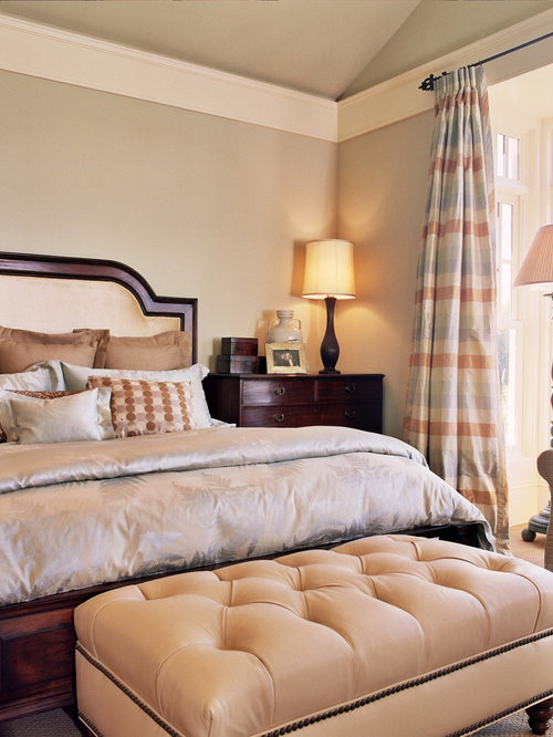 Elegant Carpeted Bedroom Photo In Portland With Beige Walls