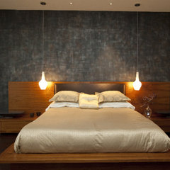 contemporary bedroom by Amelie de Gaulle Interiors