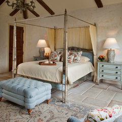 mediterranean bedroom by Andrea Bartholick Pace Interior Design
