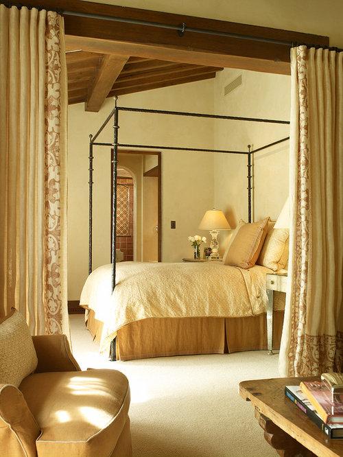 Mediterranean yellow bedroom design ideas renovations for Mediterranean bedroom