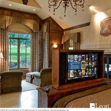 Mediterranean Bedroom by Leon Speakers, Inc.