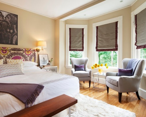 Inspiration for a victorian medium tone wood floor bedroom remodel in  Boston with beige walls 30 Best Victorian Bedroom Ideas Remodeling Photos Houzz