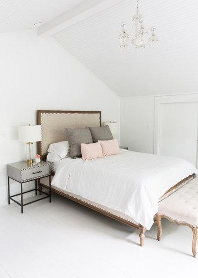 Transitional Bedroom by Maureen Stevens Design