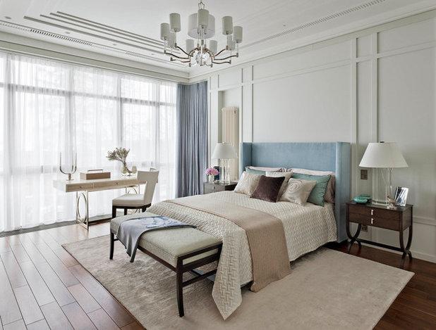 Transitional Bedroom by Oleg Klodt Architecture & Design