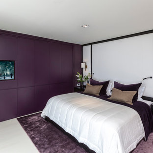 This is an example of a modern bedroom in Other.