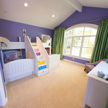 Purple & Green Kid's Bedroom