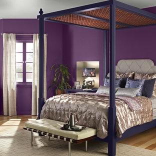 オレンジカウンティのコンテンポラリースタイルのおしゃれな寝室のインテリア