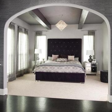 Purple Glam Master Bedroom