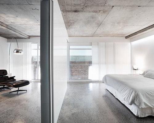 Concrete ceiling houzz for Exposed concrete floor