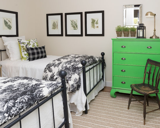 Black And White And Green Bedroom green white and black bedrooms | houzz