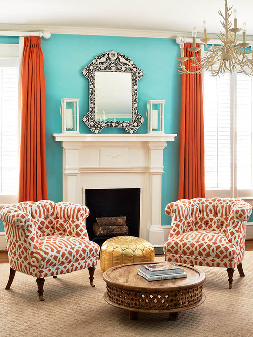 Turquoise And Orange Houzz
