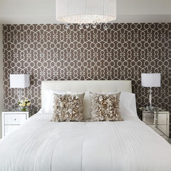 contemporary bedroom by LUX Design Inc.