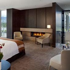 Contemporary Bedroom by Montigo Fireplaces