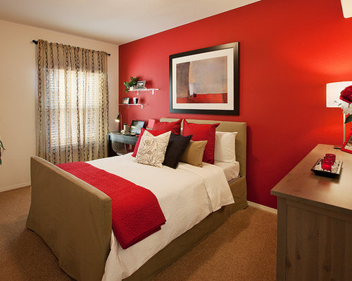 crimson bedroom design ideas remodels photos houzz