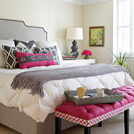 transitional bedroom by Holly Kidwell Interiors