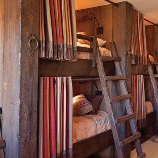 Idée de décoration pour une chambre d'amis chalet.