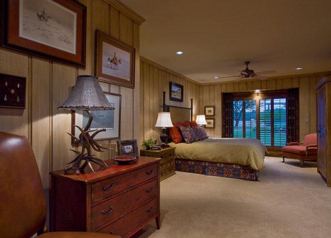 Rustic Bedroom by Linda McCalla Interiors