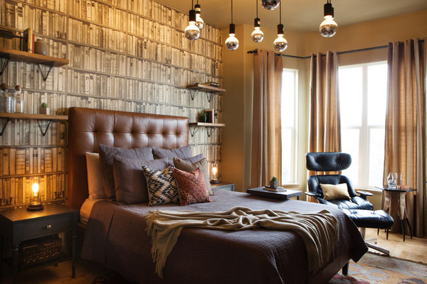 Room of the day an eclectic bedroom with an edgy vibe for Edgy bedroom ideas