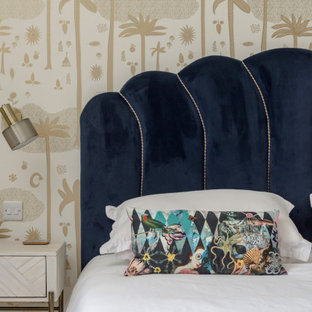 Eclectic bedroom in Edinburgh.