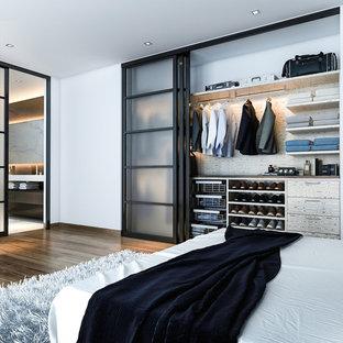 ロサンゼルスの中サイズのコンテンポラリースタイルのおしゃれな寝室のインテリア