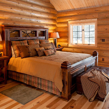 Reclaimed Wood Rustic Cabin Bed