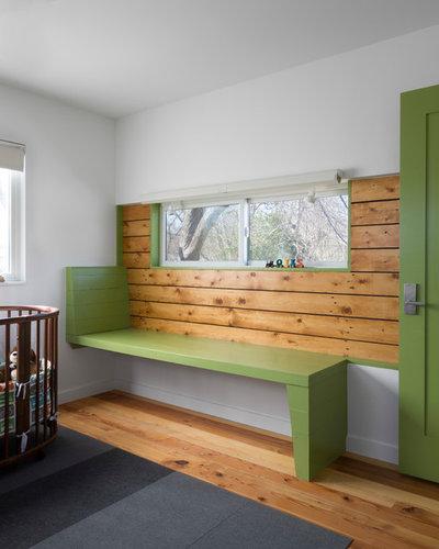 Contemporary Bedroom by Jennifer Ott Design