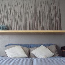 Tropical Bedroom Reed headboard