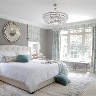 Inspiration for a transitional bedroom remodel in Atlanta