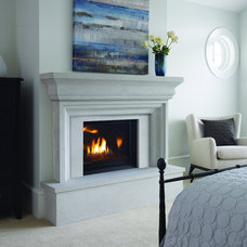 Traditional Bedroom by Rustic Fire Place