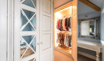 Regency french style luxury fitted dressing room