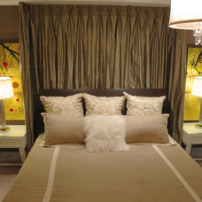 Eclectic Bedroom by Lucid Interior Design Inc.