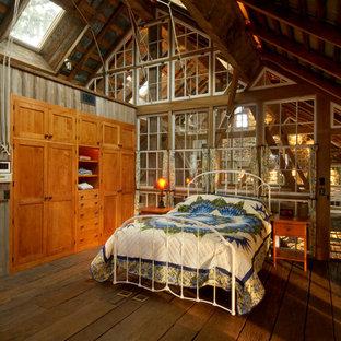 Mountain style medium tone wood floor bedroom photo in Philadelphia