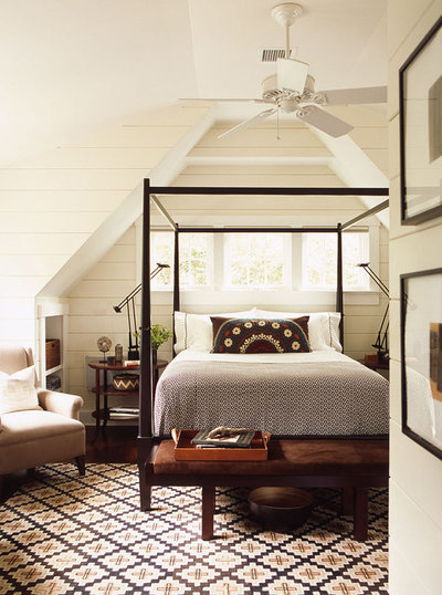 Beach Style Bedroom by David Mitchell Interior Design
