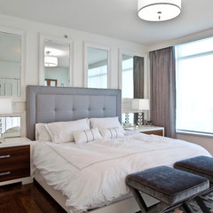 contemporary bedroom by Olive E + O