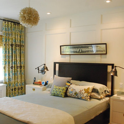 Bedroom - contemporary master bedroom idea in Toronto with white walls and no fireplace