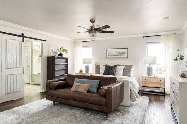 Traditional Bedroom by Kelsey Leigh Design Co.