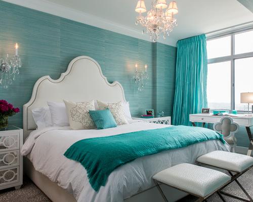 Ocean Blue Bedroom   Home Design