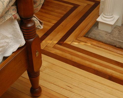 SaveEmail - Wood Floor Border Houzz