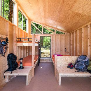 Idées déco pour une chambre montagne.