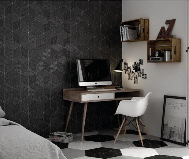 Фьюжн Спальня by Cercan Tile Inc.