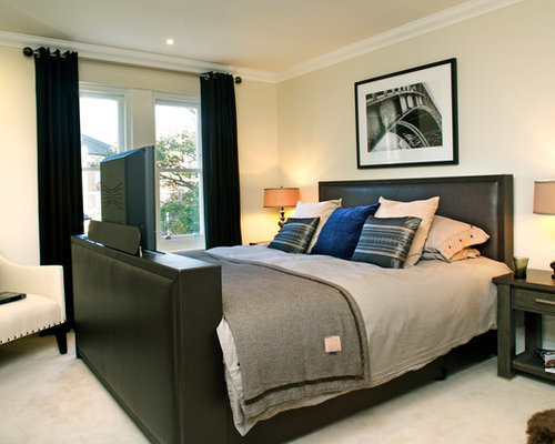 Example of a classic bedroom design in LondonMens Bedroom Paint   Houzz. Mens Bedroom. Home Design Ideas