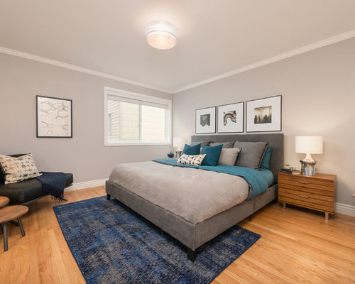 Houzz | Grey And Teal Bedroom Design Ideas & Remodel Pictures