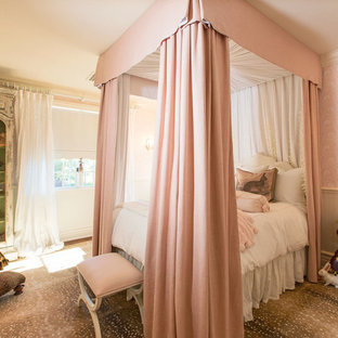 75 Beautiful Victorian Bedroom With Pink Walls Pictures ...