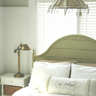 Cottage chic bedroom photo in Other