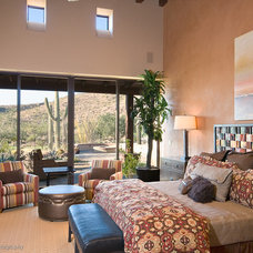 Southwestern Bedroom by Boxhill Design